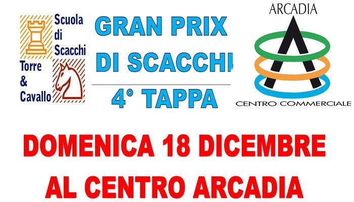 Domenica 18 Gran Prix di scacchi in Arcadia. Possono partecipare adulti e bambini